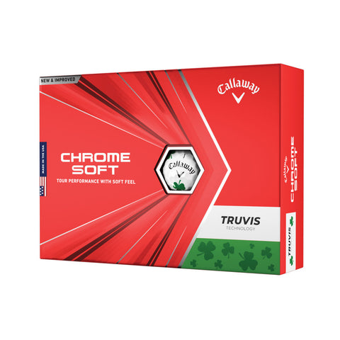 Callaway Chrome Soft SHAMROCK TRUVIS Golf Balls