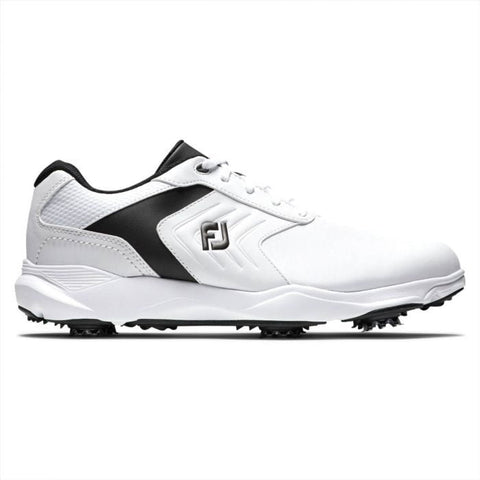 FootJoy eCOMFORT Golf Shoes - White/Black 57712