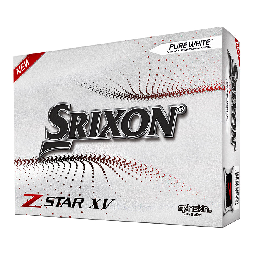 Srixon Z Star XV Golf Balls: Available in Pure White or Tour Yellow