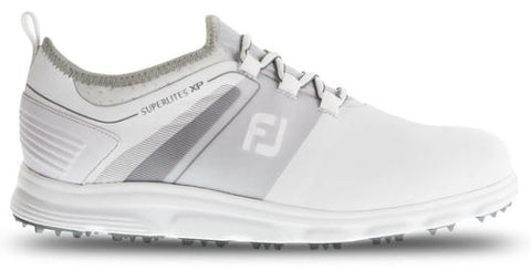 FootJoy 2019 Superlites XP Spikeless Golf Shoes - White/Grey 58062