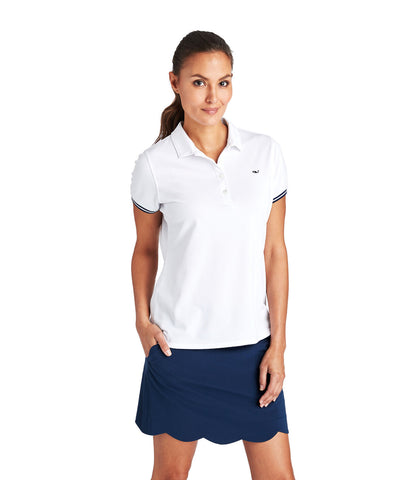 Vineyard Vines Ladies Short Sleeve Solid Pique Polo 2G000005 Assorted Colors
