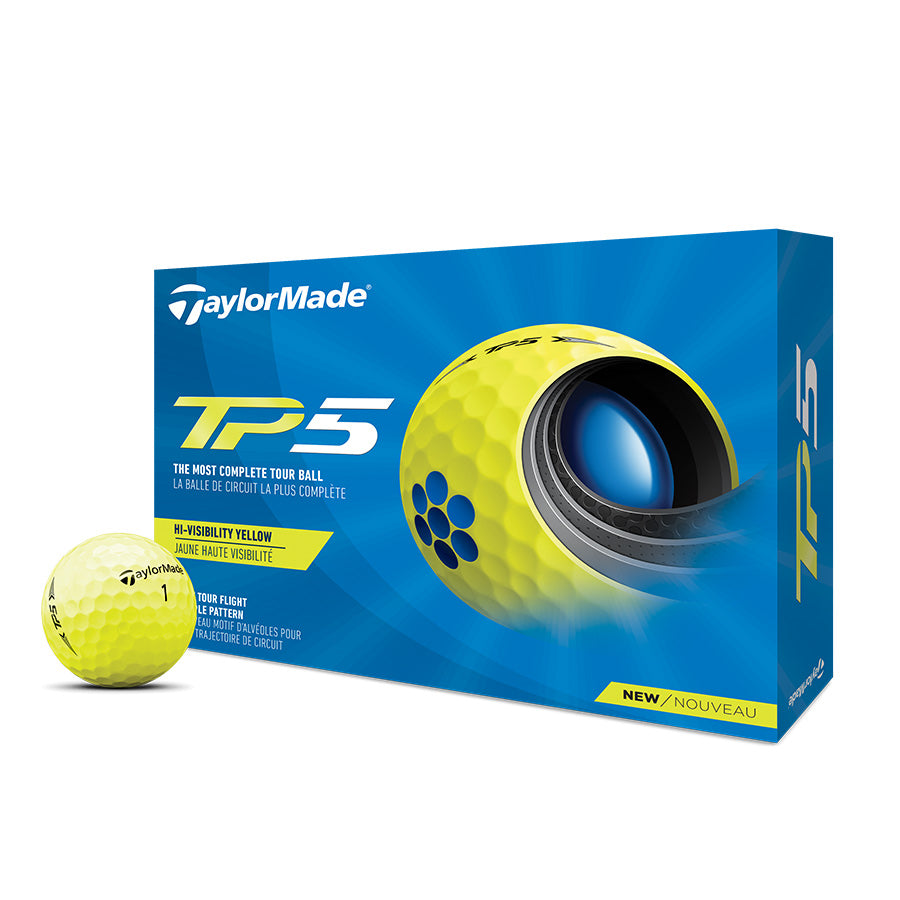 TaylorMade 2021 TP5 Yellow Golf Balls: Pre Order Today, Available 4/9/2021