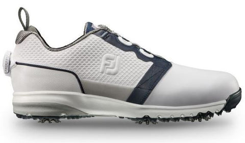 Foot Joy Contour Fit BOA Golf Shoes - White/Navy 54099