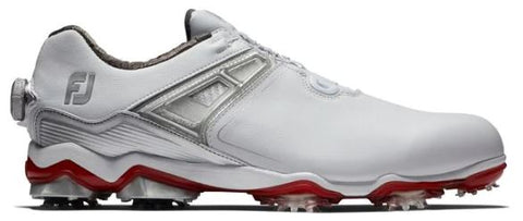 Foot Joy Tour X BOA Golf Shoes - White/Grey/Red 55406