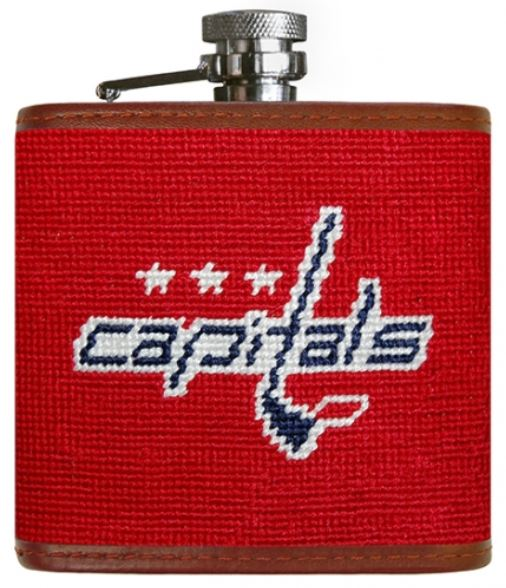 Smathers & Branson Needlepoint Washington Capitals Flask