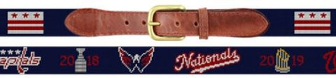 Smathers & Branson DC Sports Champions 2018-2019 Needlepoint Belt - LIMITED