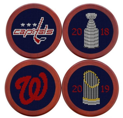 Smathers & Branson DC Sports Champions 2018-2019 Needlepoint Coaster Set