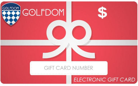 Golfdom Gift Card - EMAILED TO YOU (For In-Store or Online Purchases)