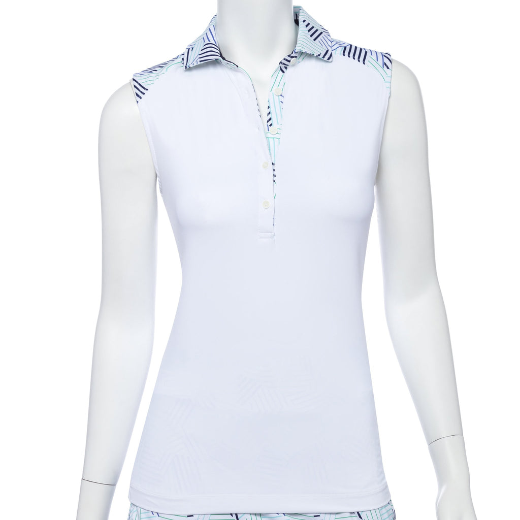 Fairway & Greene Piper Sleeveless Polo J32222 White