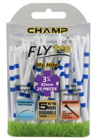 "Zarma FLYtee™ MyHite™ - 3.25"" White/Blue Stripe 25 pack"