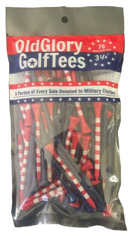 "Old Glory 3 1/4"" Golf Tees - 76 Pack"
