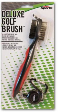 Pride Sports Deluxe Golf Brush w/Retractable Nylon Cord