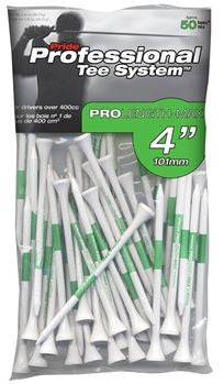 "Pride ProLength Plus PTS Green 4"" White/Green Golf Tees"