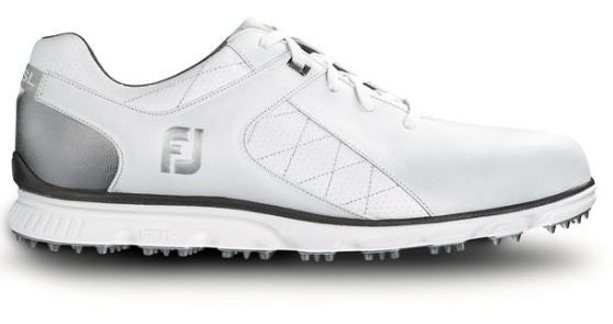 Foot Joy Pro/SL Spikeless Golf Shoes - White/Silver 53579