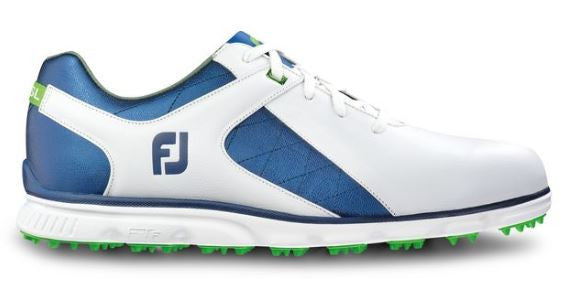 Foot Joy Pro/SL Spikeless Golf Shoes - White/Blue 53584