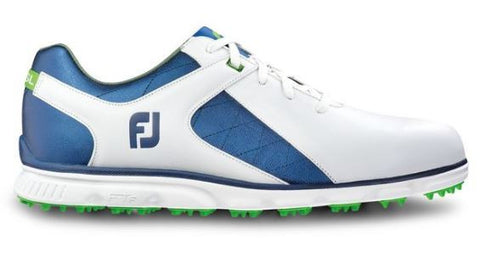 Foot Joy Pro/SL Junior Spikeless Golf Shoes - White/Royal Blue 45039