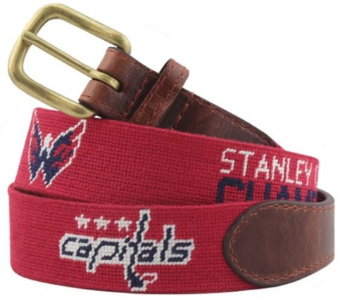 Smathers & Branson Washington Capitals® Needlepoint Stanley Cup Champions Belt