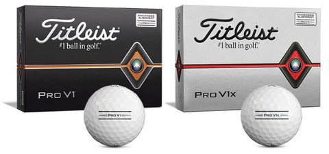 Titleist Pro V1 and Pro V1x AIM Golf Balls