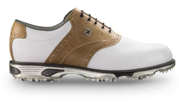 Foot Joy DryJoys Tour Golf Shoes - White/Bomber Taupe 53699