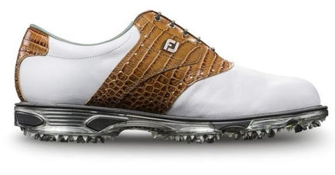 Foot Joy DryJoys Tour Golf Shoes - White/Brown 53677