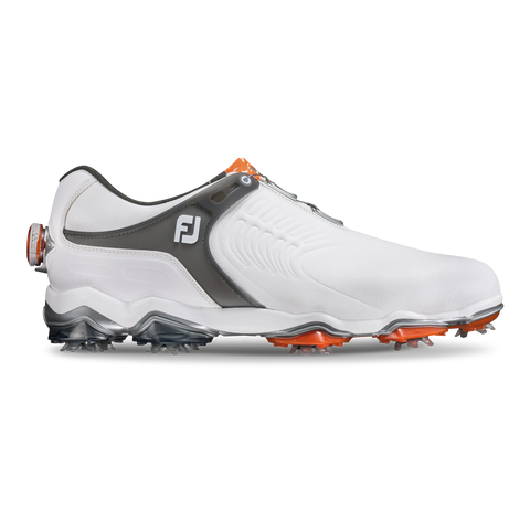 Foot Joy Tour-S BOA Golf Shoes - White/Dark Grey 55303