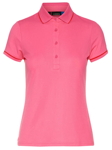 J. Lindeberg Lenana Lux Pique Short Sleeve Polo 92WG538935711 Pink