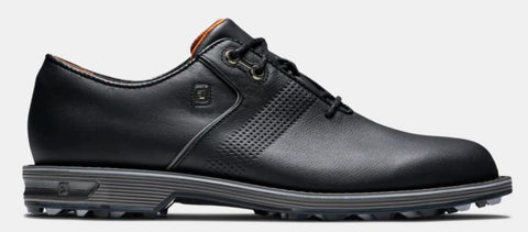 FootJoy Premiere Series FLINT Spikeless Golf Shoes: Black/Orange 53916