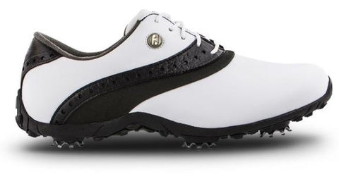 FootJoy Women's LoPro Golf Shoes - White/Black 93927