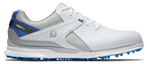 Foot Joy 2020 Pro/SL Spikeless Golf Shoes - White/Blue/Grey 53811