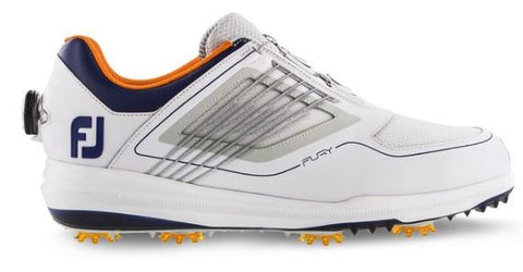 FootJoy FJ Fury BOA Golf Shoes - White/Grey/Navy 51105