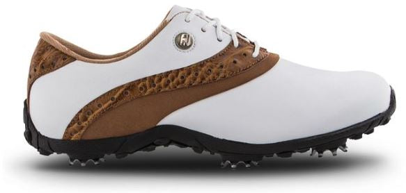 FootJoy Women's LoPro Golf Shoes - White/Tan 93926
