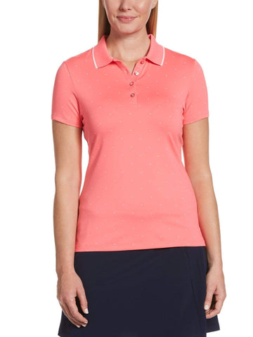 Callaway Short Sleeve Chevron Dot Polo CGKS9011 Virtual Pink