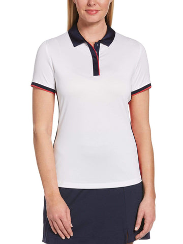 Callaway Short Sleeve Swing Tech Color Block Polo CGKSA095 White