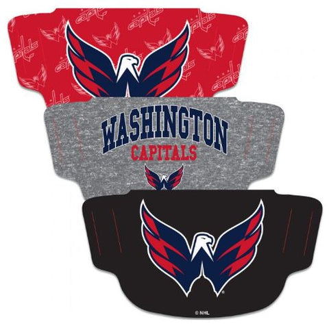 WinCraft Washington Capitals Fan Mask Face Cover - 3 PACK