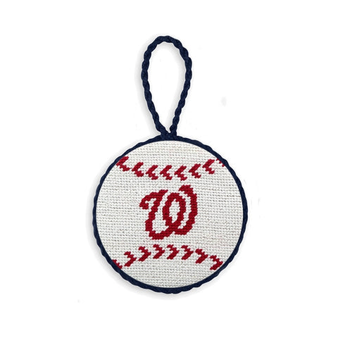 Smathers & Branson Washington Nationals Needlepoint Ornament