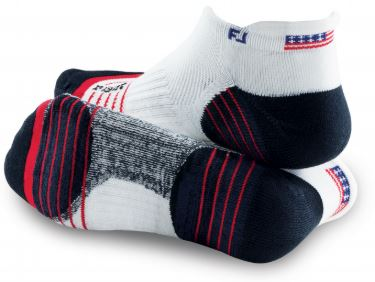 FootJoy 2pk TechSof Tour USA Flag Socks