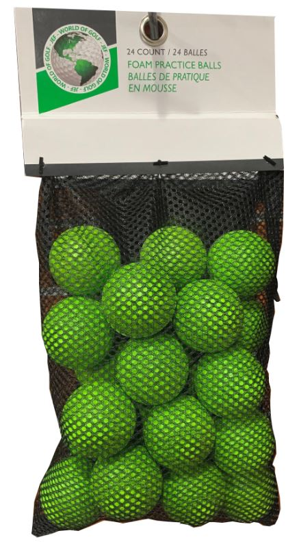 Golf Gifts & Gallery 24pk Foam Practice Balls: GREEN