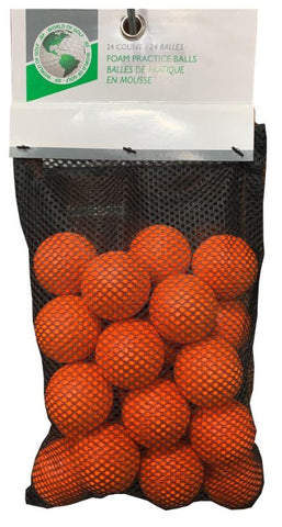 Golf Gifts & Gallery 24pk Foam Practice Balls: ORANGE