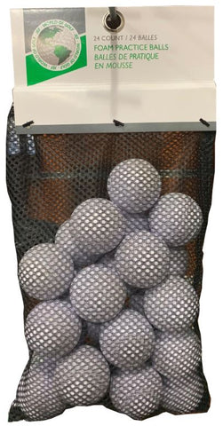 Golf Gifts & Gallery 24pk Foam Practice Balls: WHITE