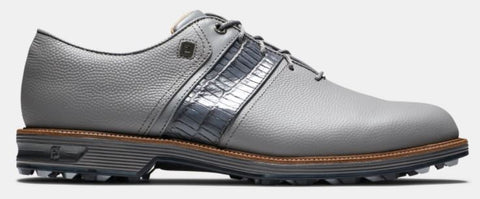 FootJoy Premiere Series PACKARD Spikeless Golf Shoes: Grey/Grey Speed Saddle 53910
