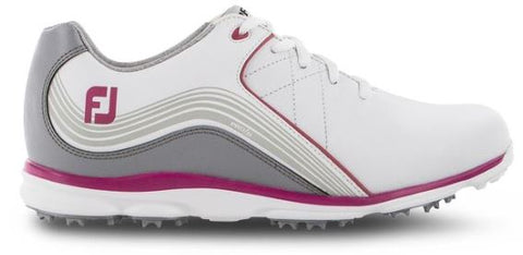 FootJoy 2019 Women's Pro/SL Golf Shoes - White/Grey/Pink 98101