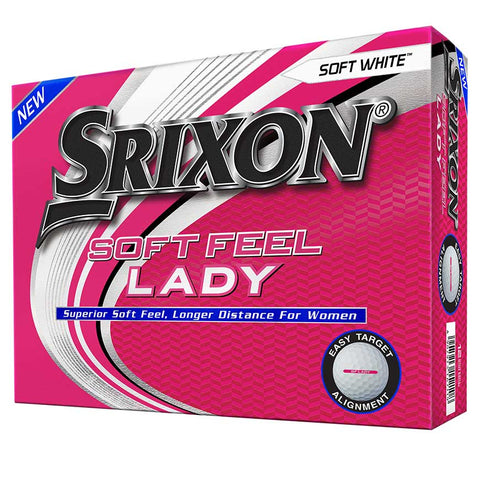 Srixon Soft Feel Lady Golf Balls - Available in White or Pink