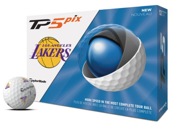 TaylorMade TP5 Pix Los Angeles Lakers Golf Balls