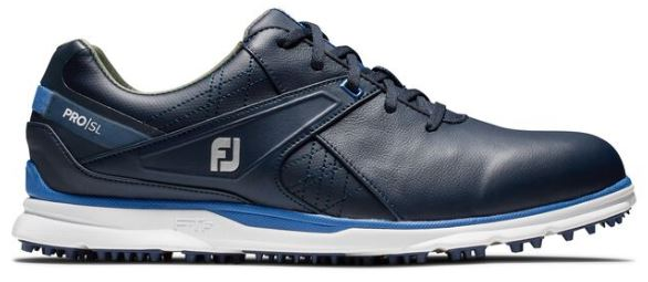 FootJoy 2020 Pro/SL Spikeless Golf Shoes - Navy/Light Blue 53812