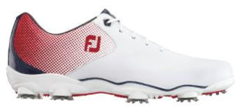 Foot Joy D.N.A. Helix Golf Shoes - White/Red/Blue 53317