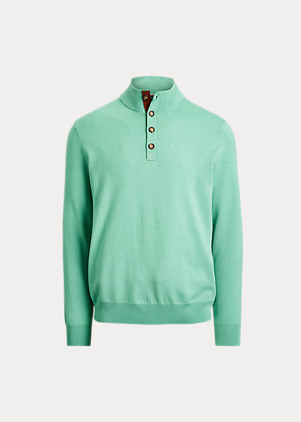 POLO MERINO WOOL BUTTON NECK SWEATER 781-784689