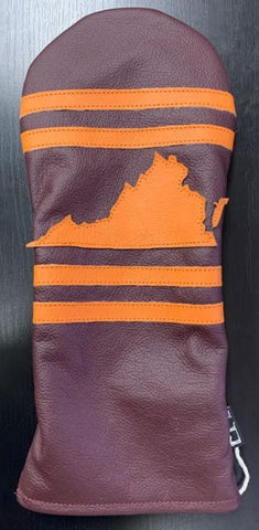 Dormie Blacksburg, VA (VT) Premium Leather Driver Headcover
