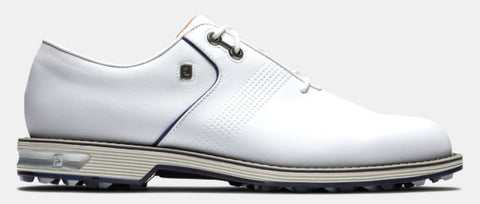 FootJoy Premiere Series FLINT Spikeless Golf Shoes: White/Navy 53922
