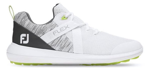 FootJoy FJ Flex Golf Shoes - White/Grey 56101