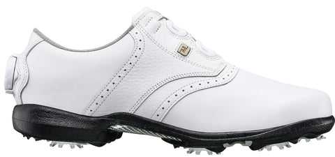 Foot Joy Womens DryJoys BOA Golf Shoes - White/White 99017